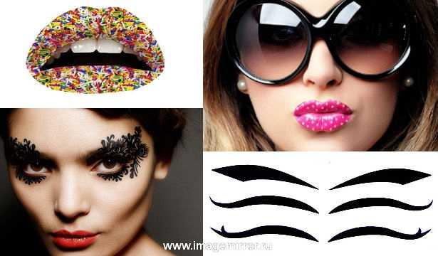 Декоративные наклейки для макияжа: обзор новинок