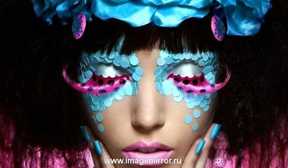 Креативный макияж для умеющих удивлять, эпатировать и для всех, кто любит жить ярко!