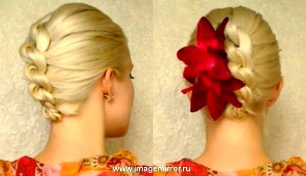 Мастер-класс: стильная прическа-плетение из узлов. Видео
