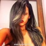 Рианна окрасила волосы в седой цвет